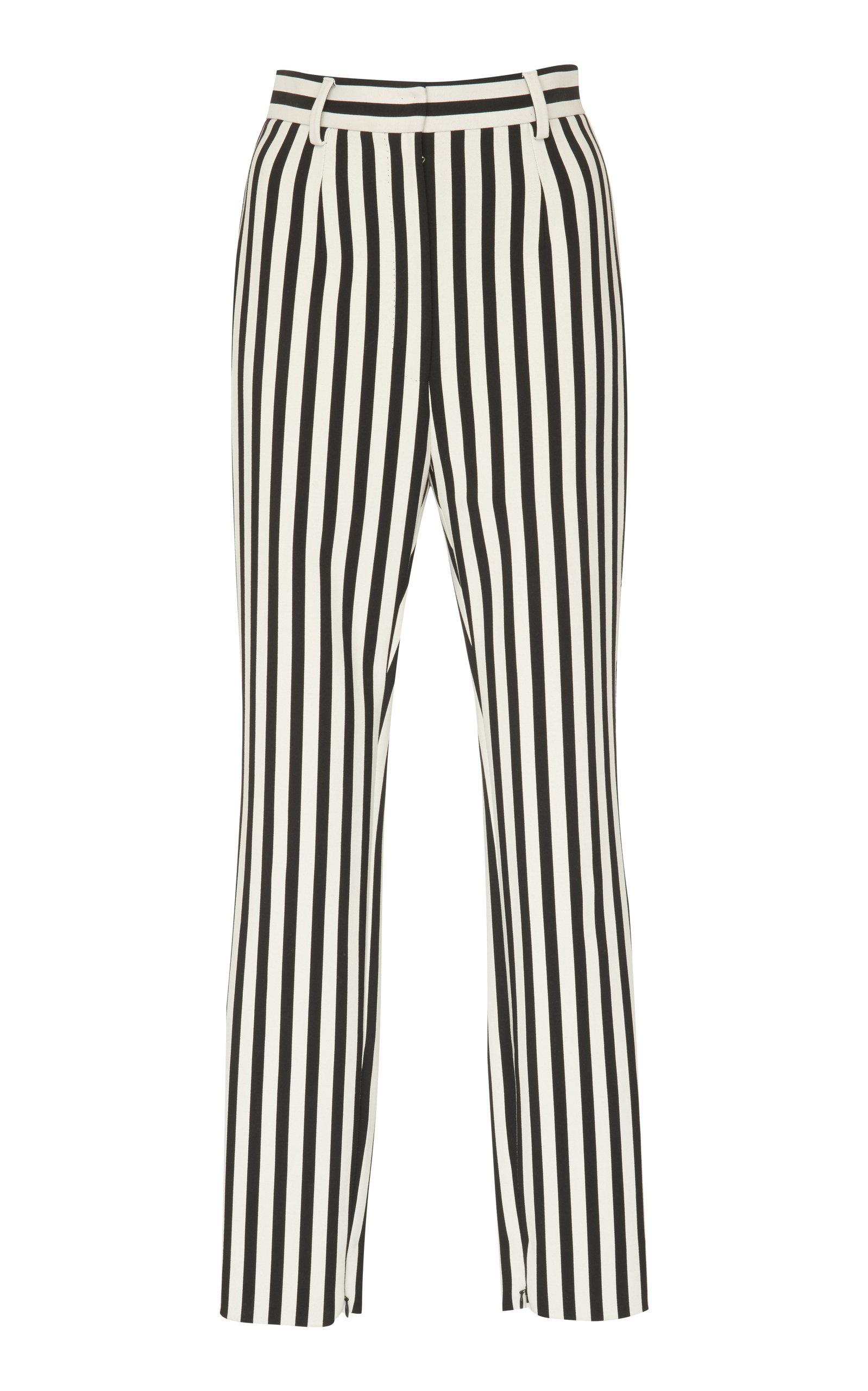 Dolce & Gabbana Pants Striped Crepe Slim-Leg Pants