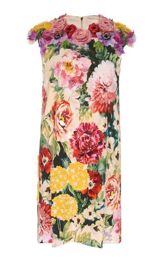 DOLCE & GABBANA | Dolce & Gabbana Embellished Floral Stretch-Crepe Mini Dress | Goxip