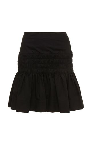 ISABEL MARANT ETOILE | Isabel Marant Étoile Oliko Smocked Cotton-Blend Mini Skirt | Goxip