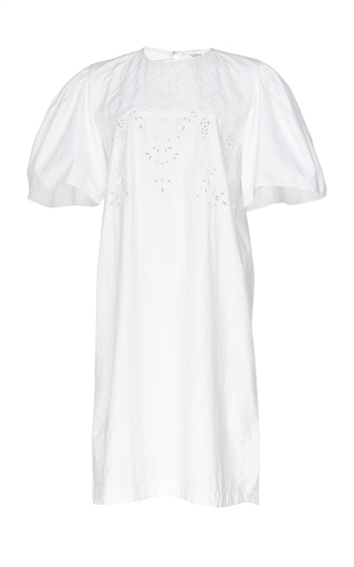 ISABEL MARANT ETOILE | Isabel Marant Étoile Wita Embroidered Cotton-Poplin Dress | Goxip
