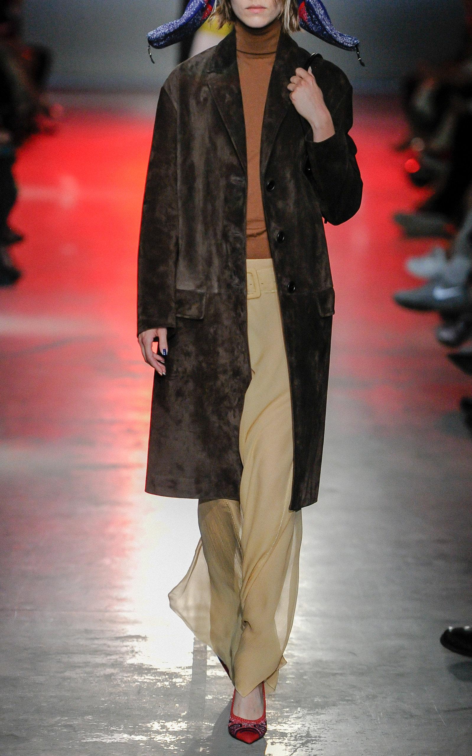Moda Operandi Prada By Coat Suede qYfA66