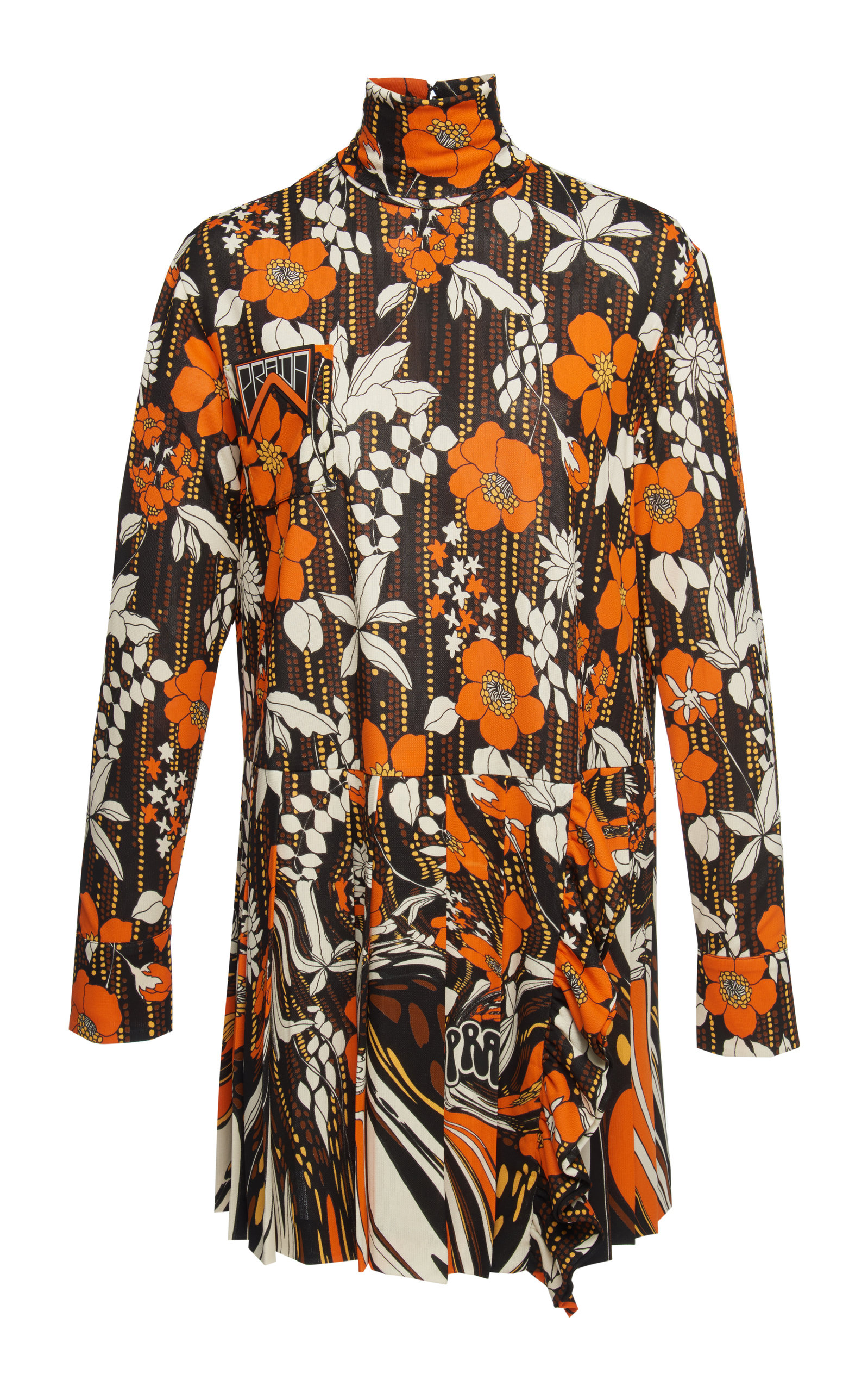 Prada Dresses FLORAL-PRINT ORGANZA MINI DRESS SIZE: 38
