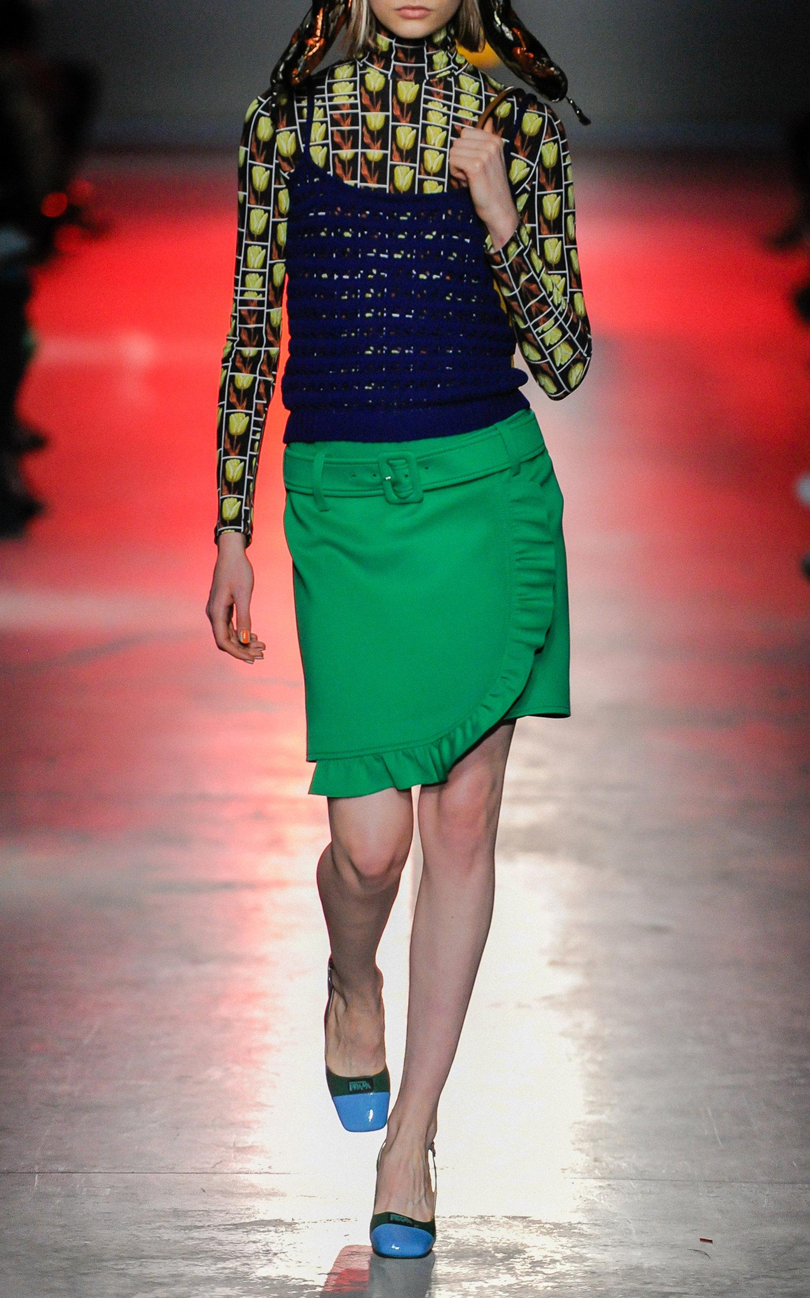 4bf85ca27bc15 Ruffled Crepe Mini Skirt