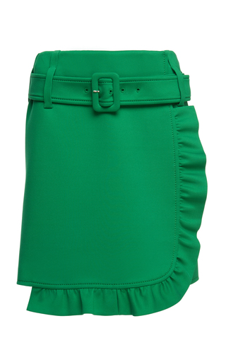 PRADA | Prada Ruffled Crepe Mini Skirt | Goxip