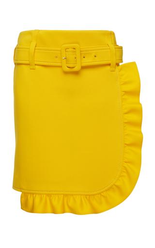 PRADA | Prada Ruffled Crepe Mini Skirt | Goxip