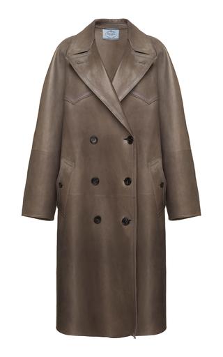 PRADA | Prada Leather Trench Coat | Goxip