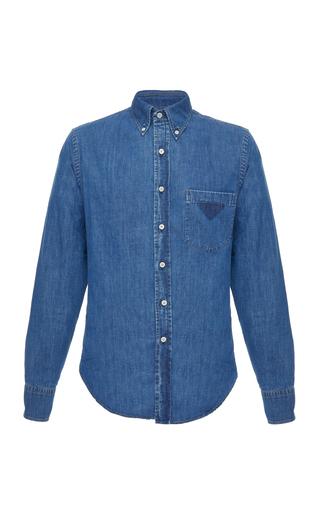PRADA | Prada Denim Button-Up Shirt | Goxip