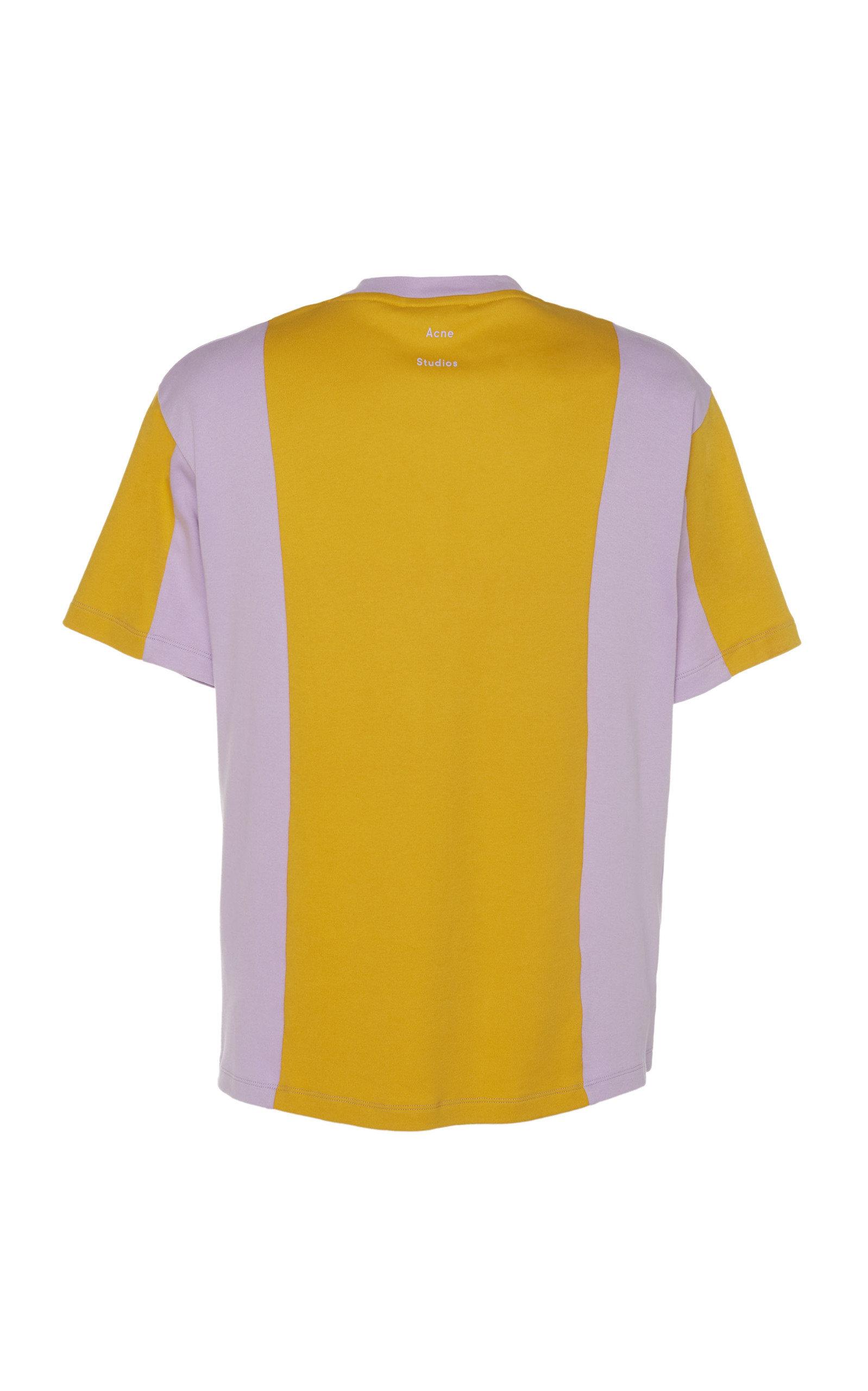 ACNE STUDIOS Shirts Two-Tone Cotton-Jersey T-Shirt