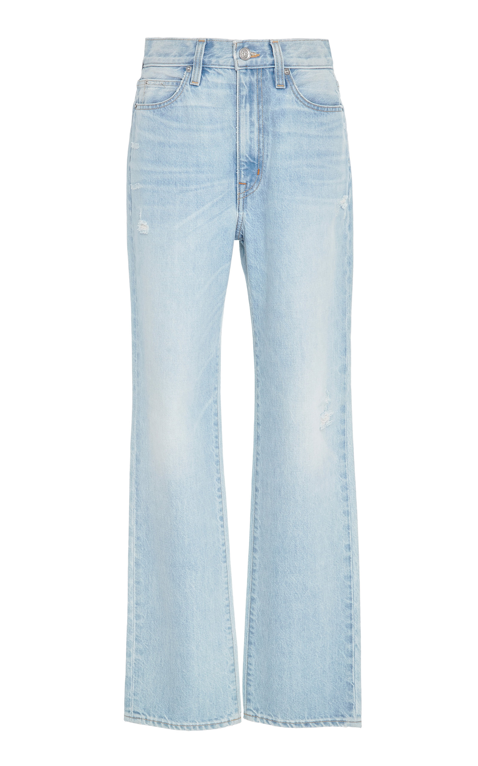 SLVRLAKE DENIM London High-Rise Straight-Leg Jeans in Light Wash