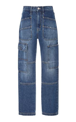 SLVRLAKE | SLVRLAKE Denim Savior High-Rise Straight-Leg Cargo Jeans | Goxip