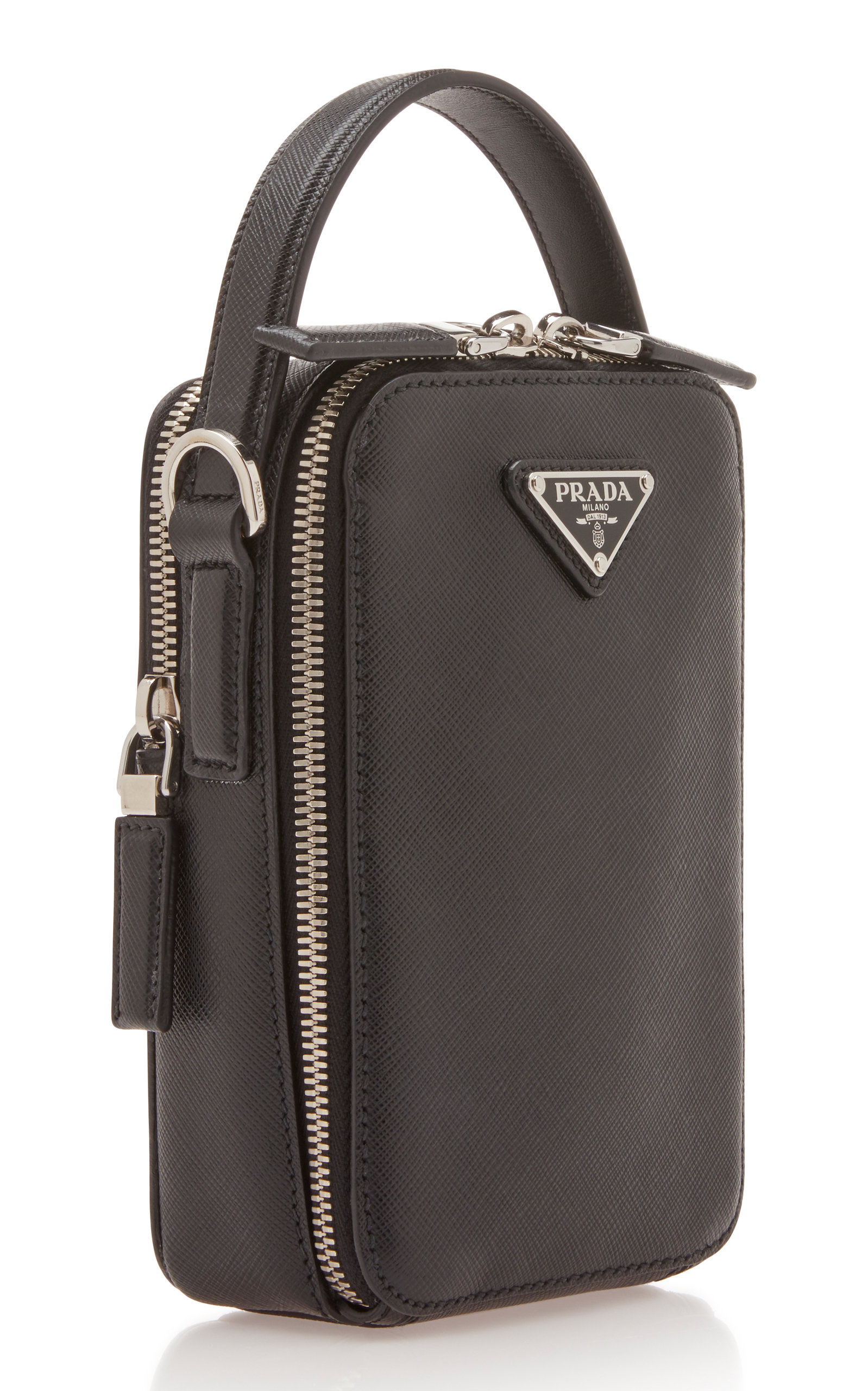 04918a29069b PradaDouble-Zip Leather Crossbody Bag. CLOSE. Loading. Loading. Loading
