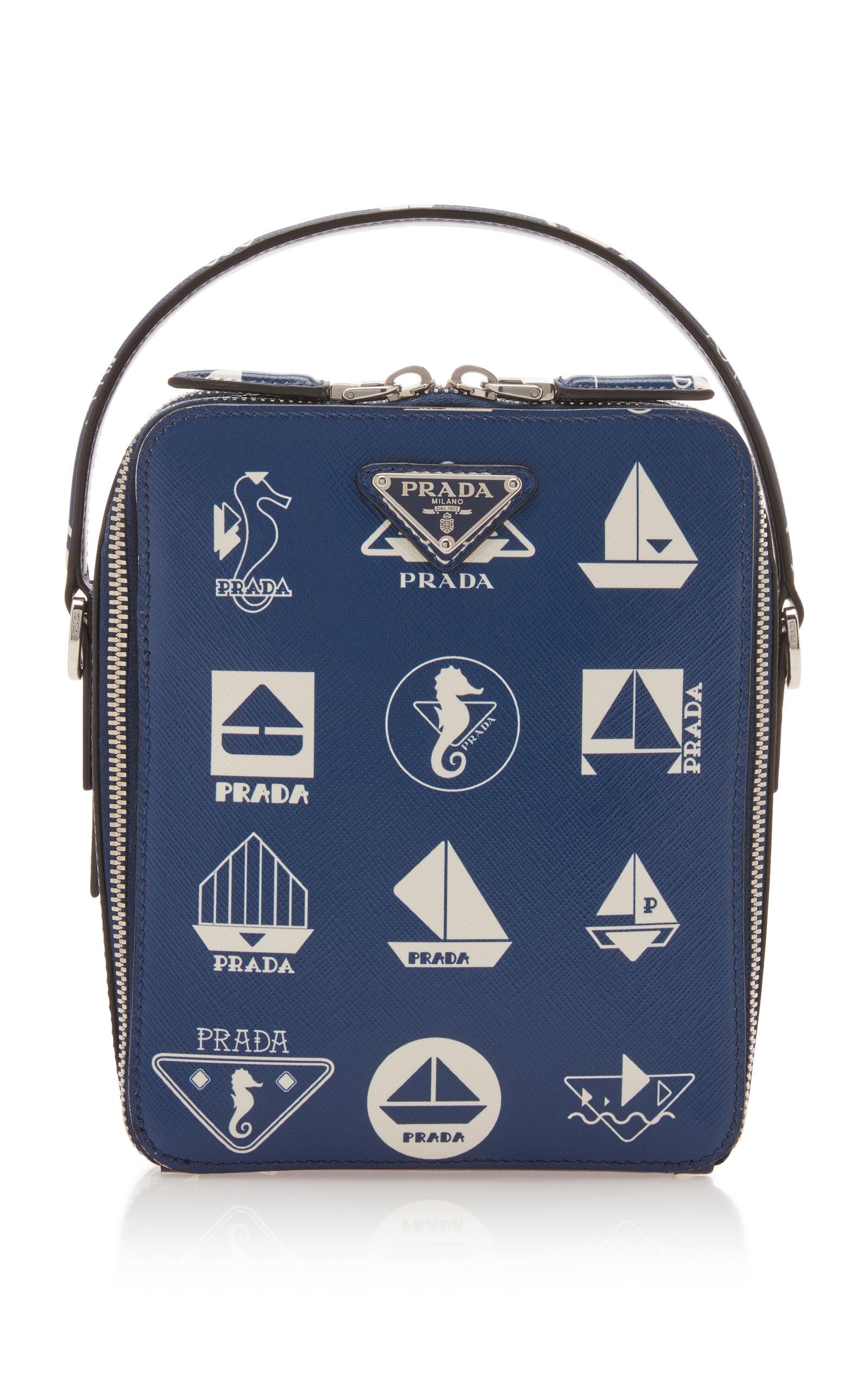 6e370d48ed0d1 PradaNautical Leather Crossbody Bag. CLOSE. Loading