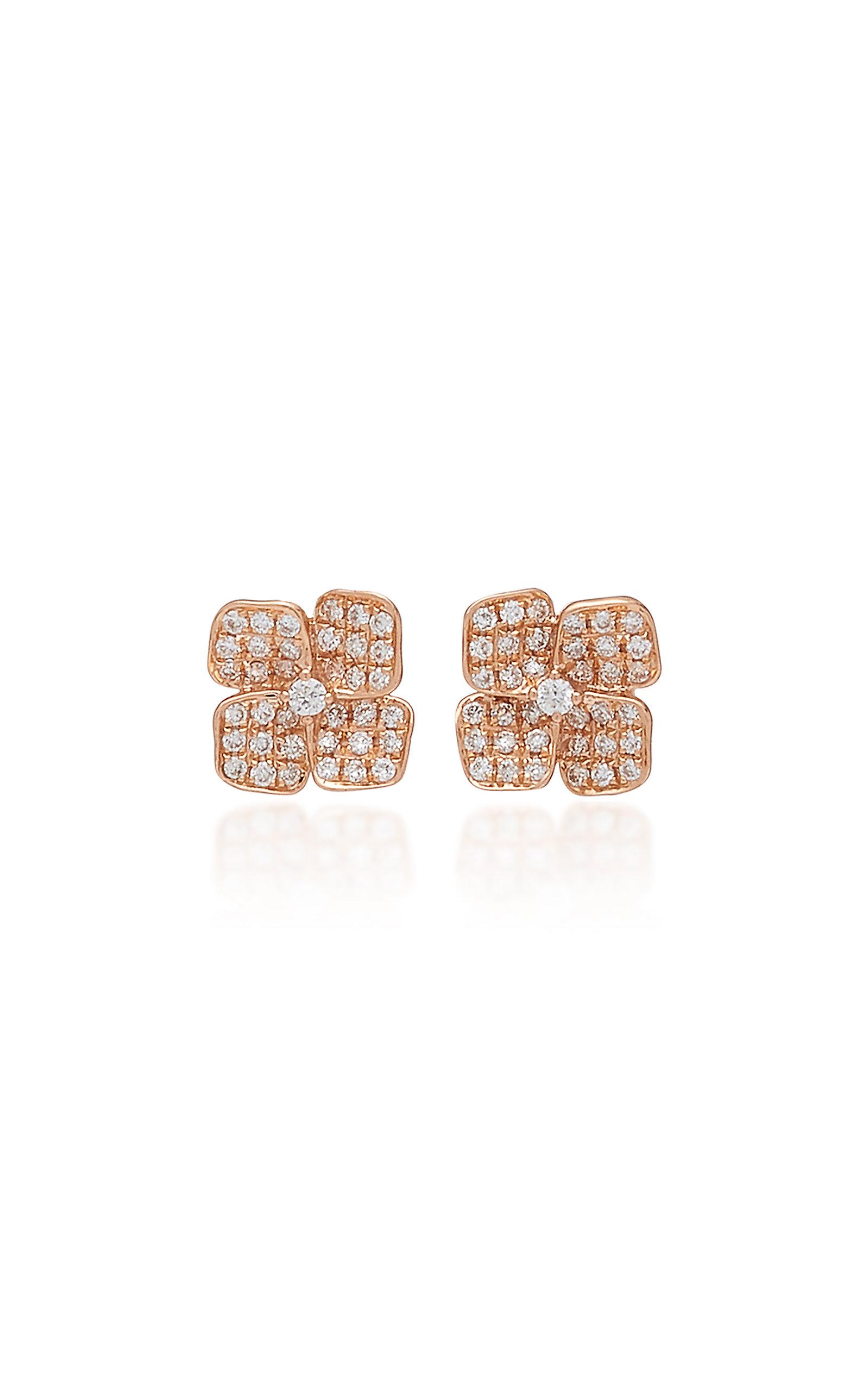 a521deea7 Floral 18K Gold And Diamond Stud Earrings by Anita Ko | Moda Operandi