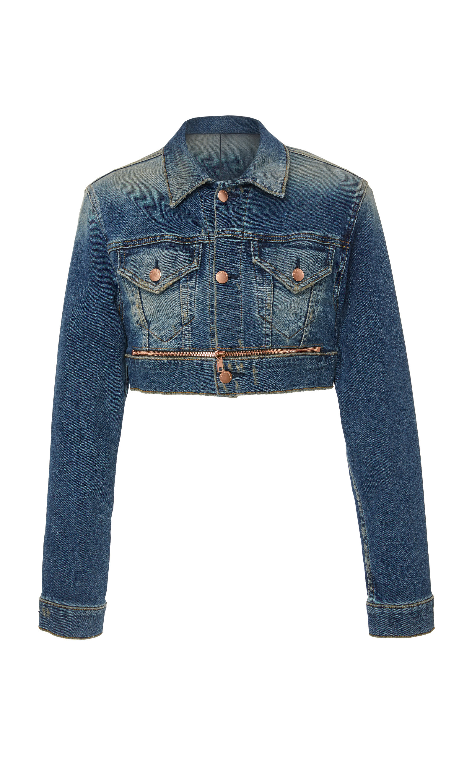 99263764c92c7c Cotton CitizenSuper Crop Denim Jacket. CLOSE. Loading