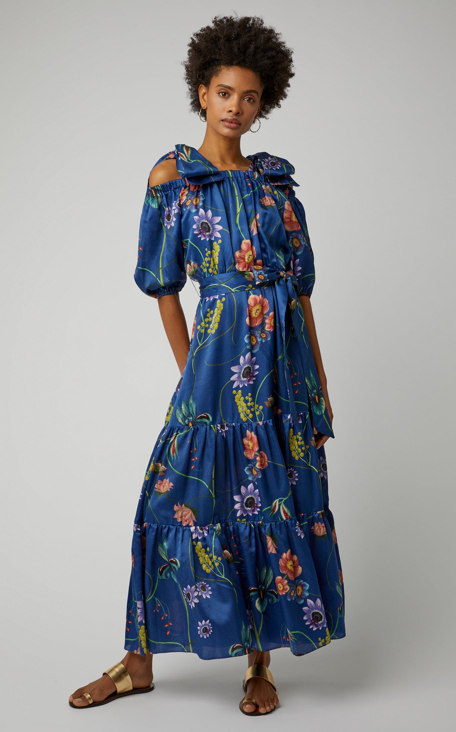 e79b976a5 Rosa Floral-Print Silk-Georgette Maxi Dress by Borgo De Nor