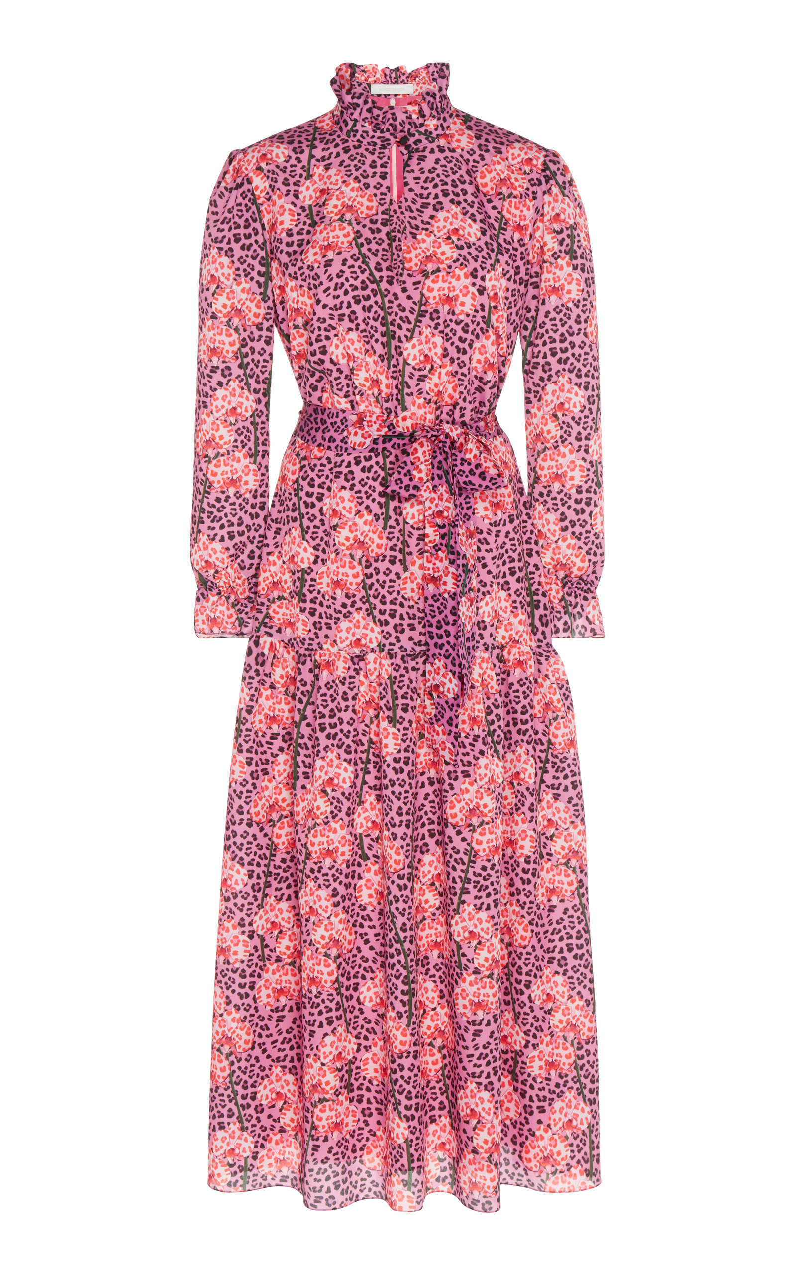 Eugenia Crepe Long Sleeve Midi Dress Borgo De Nor OlUsKkQv