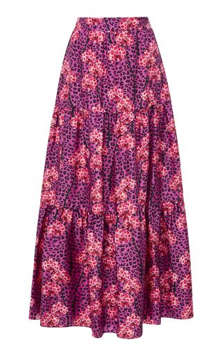 BORGO DE NOR   Borgo De Nor Printed-Silk Maxi Skirt   Goxip
