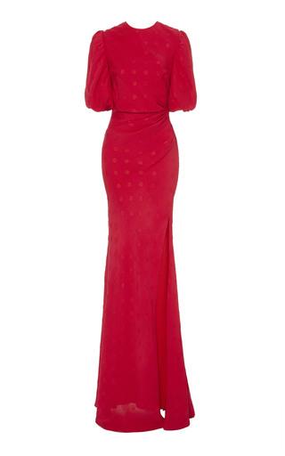 SALONI | Saloni Annie-B Dotted Silk Gown | Goxip