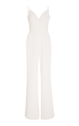 BRANDON MAXWELL BRIDAL | Brandon Maxwell Bridal Exclusive Straight-Leg Stretch-Crepe Jumpsuit | Goxip