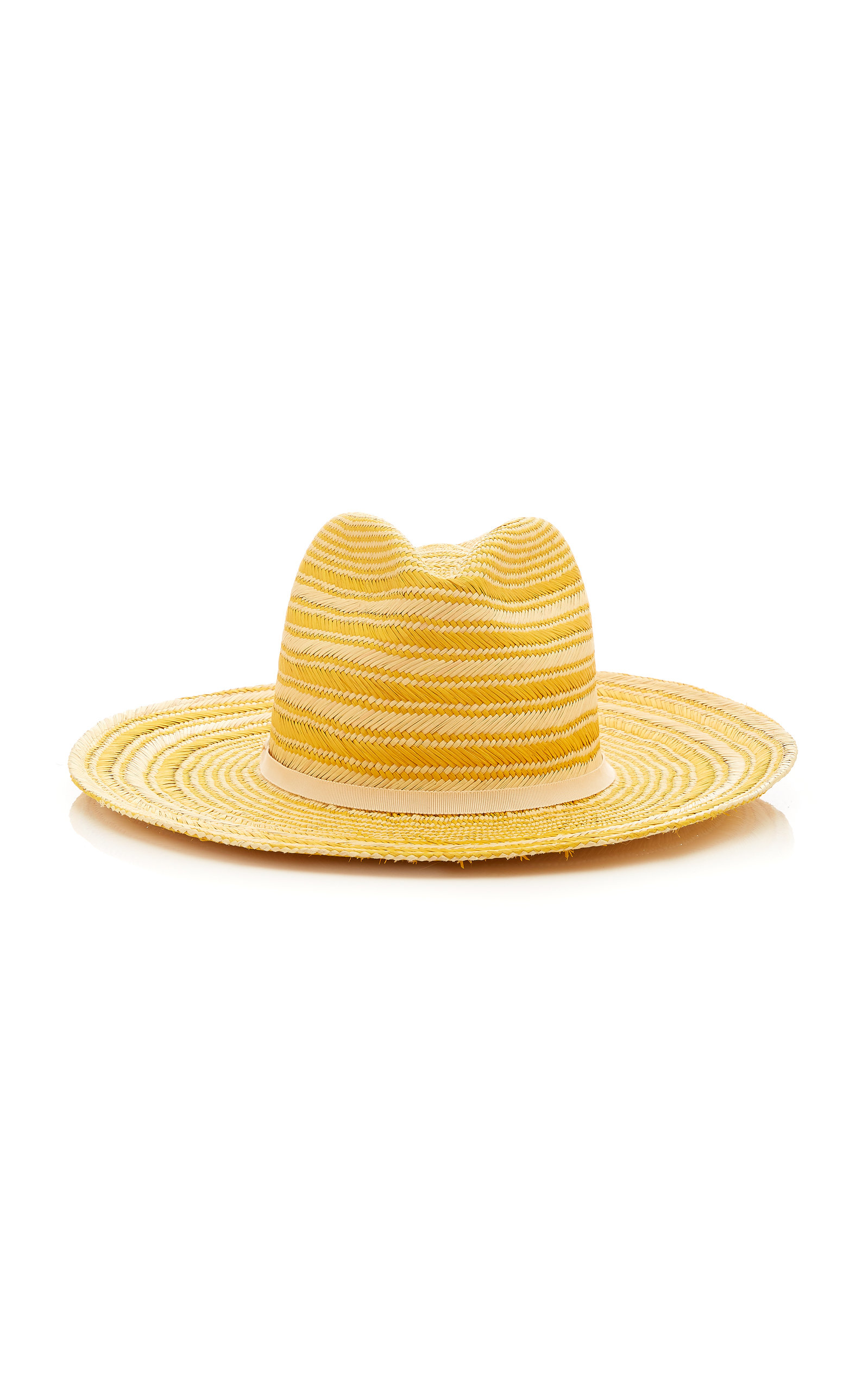 YESTADT MILLINERY Somba Woven Straw Hat in Yellow