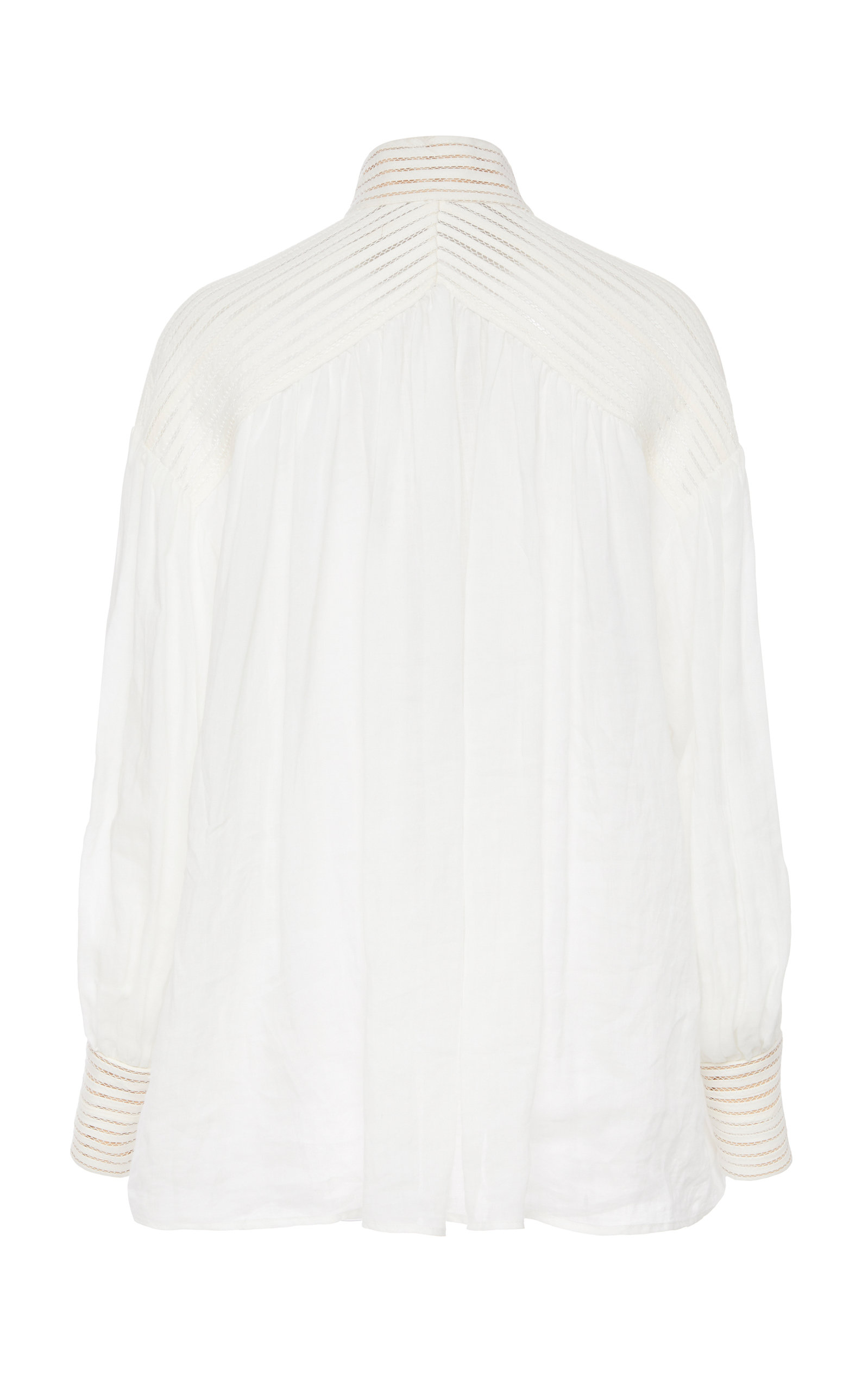 Corsage Embroidered Linen Top by Zimmermann
