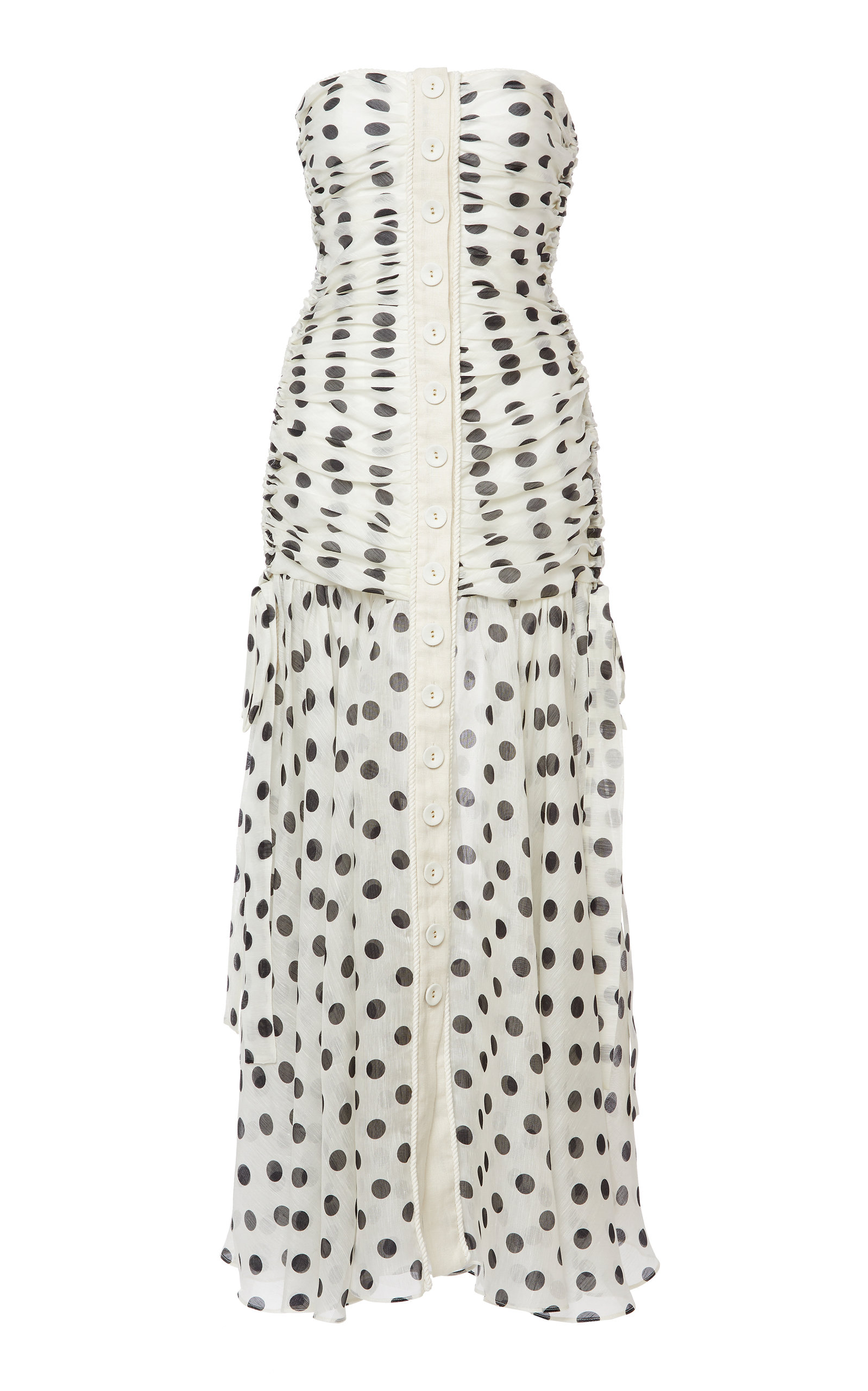 ZIMMERMANN CORSAGE RUCHED MAXI DRESS