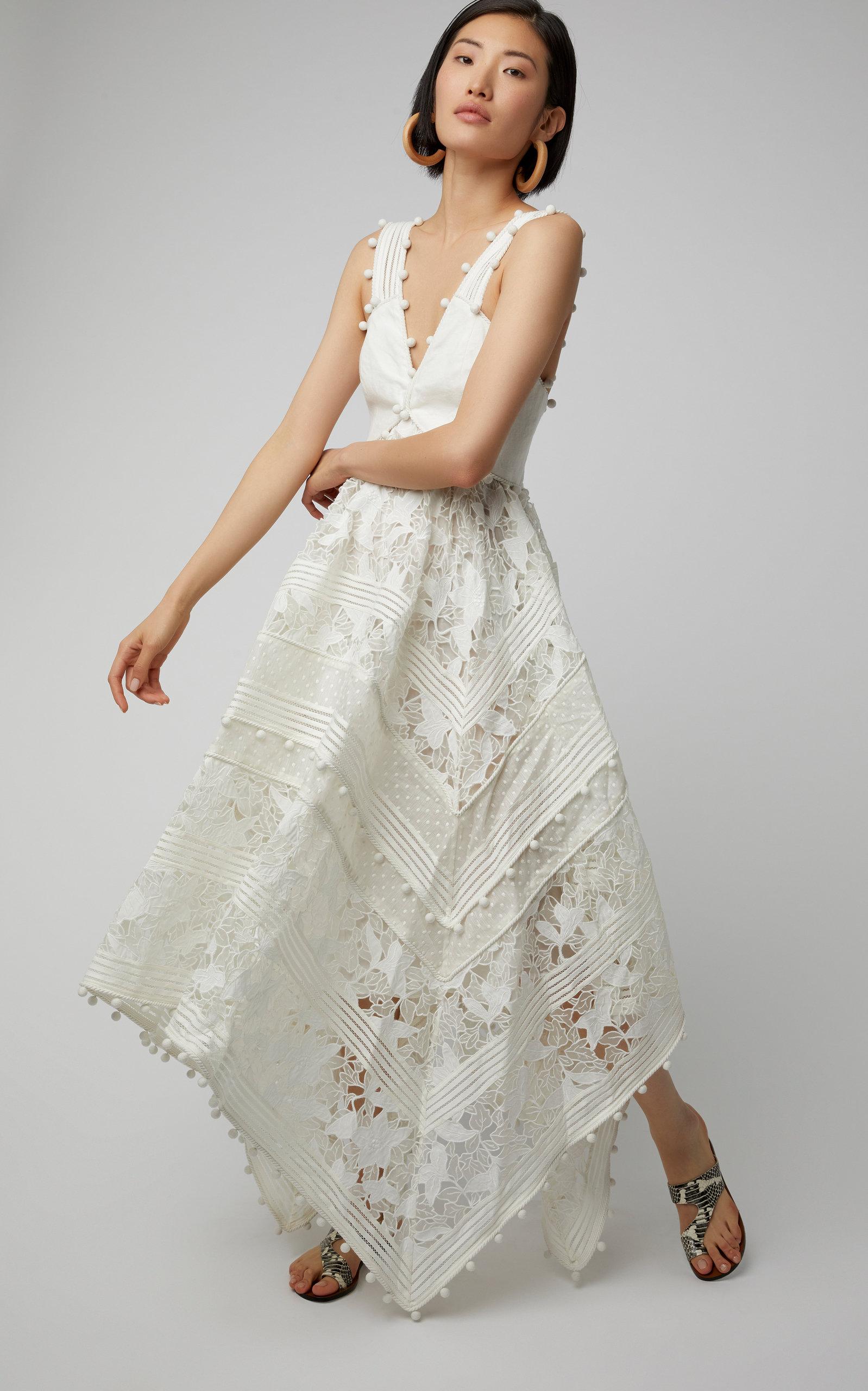 e7b83627caf6 Corsage Embellished Silk-Blend Midi Dress by Zimmermann | Moda Operandi