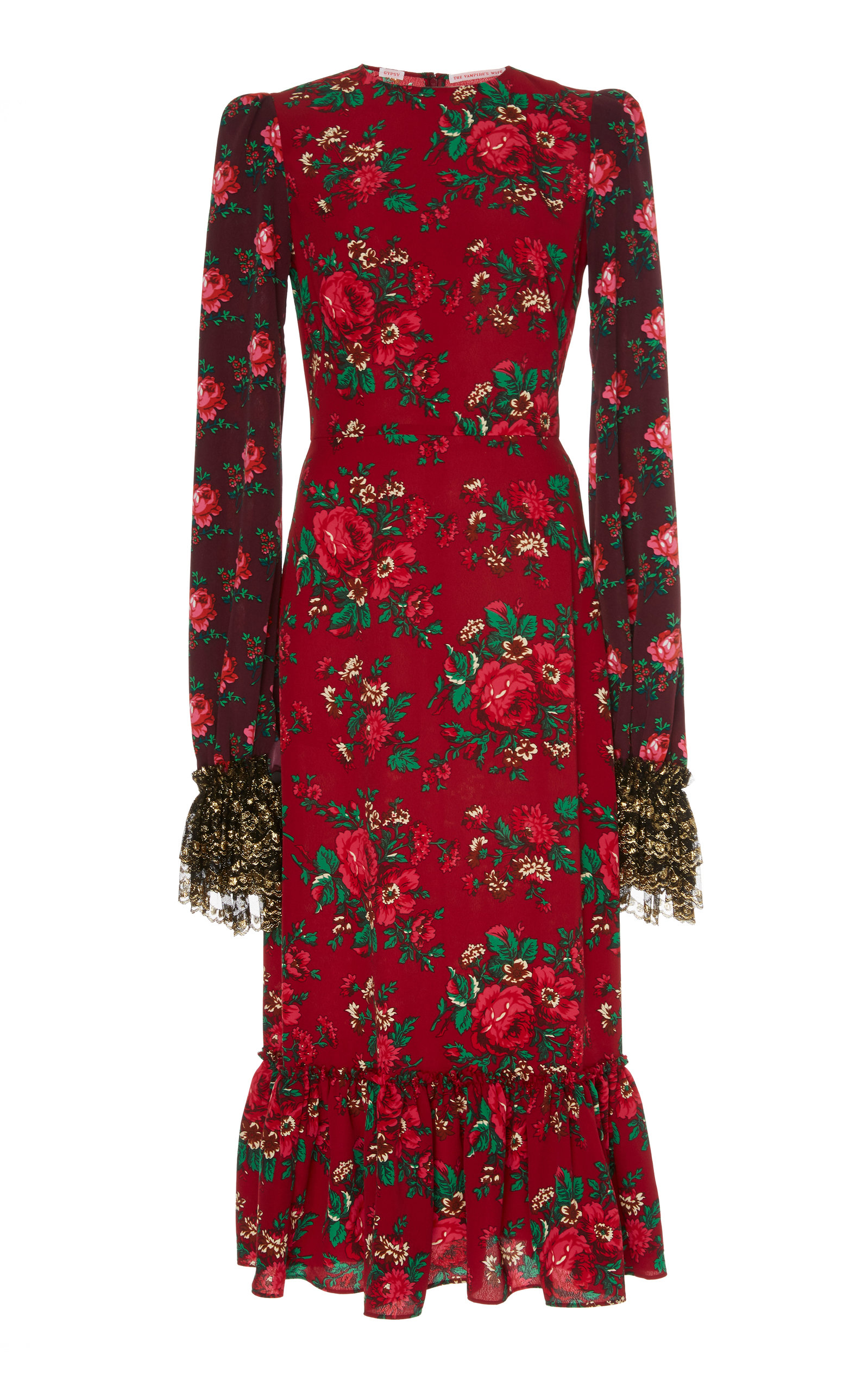 The Vampire's Wife Dresses EXCLUSIVE THE RIDING FLORAL-PRINT CREPE MIDI DRESS
