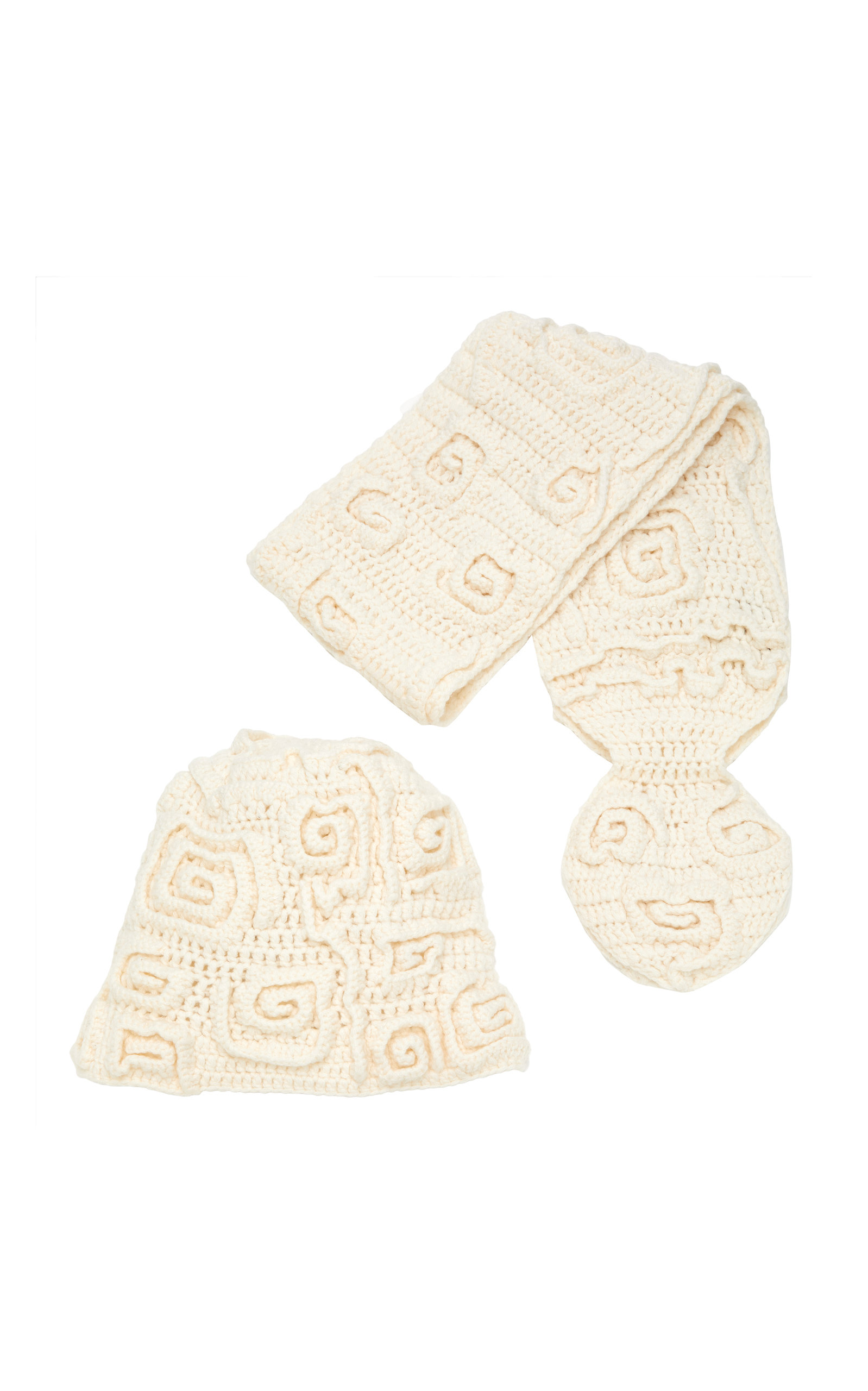 IL BORGO Rose Cashmere Scarf And Hat Set in Neutral