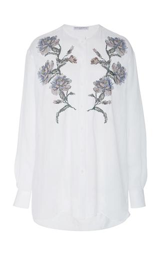 ERMANNO SCERVINO   Ermanno Scervino Floral Stud-Embellished Linen Shirt   Goxip
