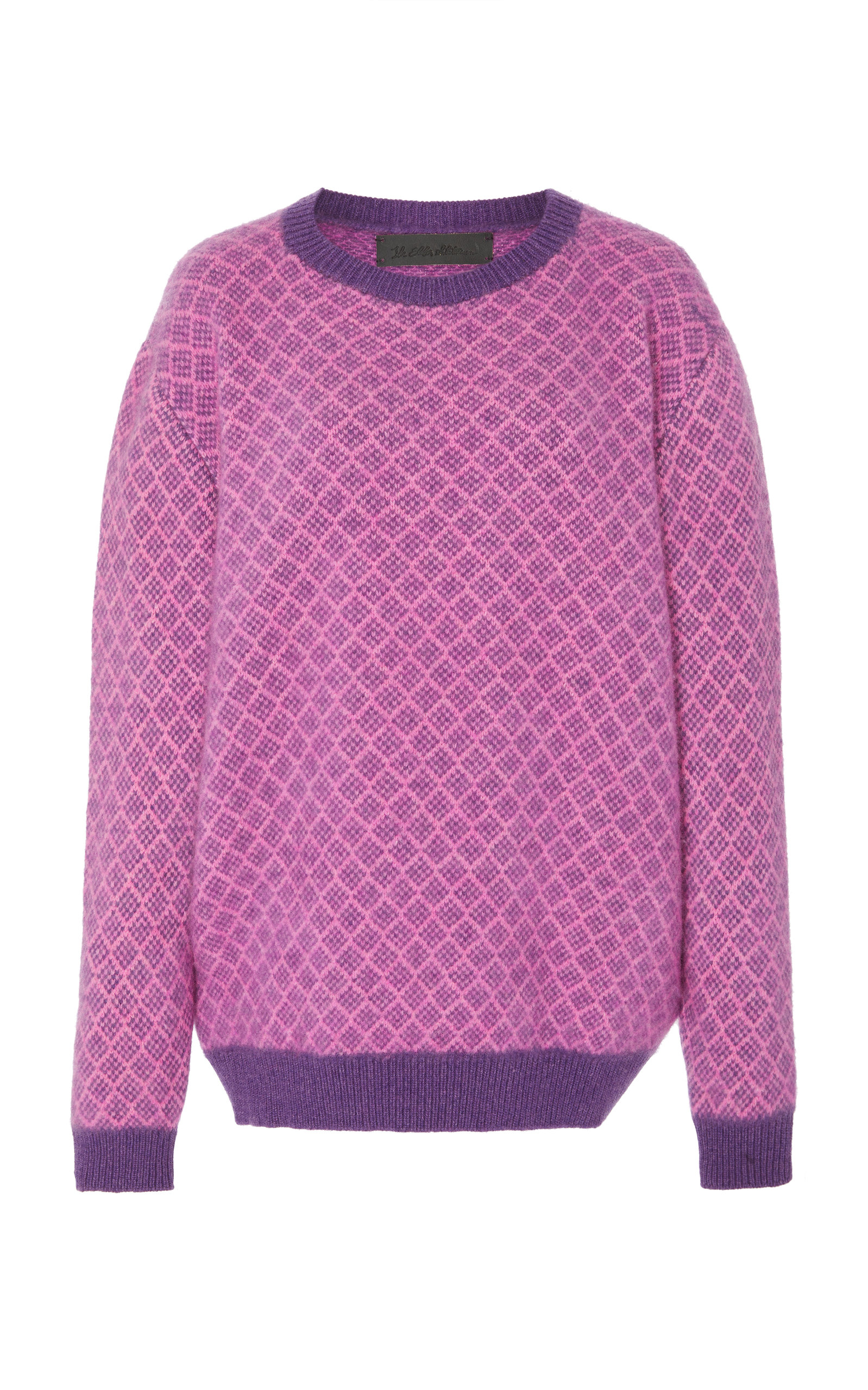 The Elder Statesman INTARSIA CASHMERE SWEATER SIZE: L