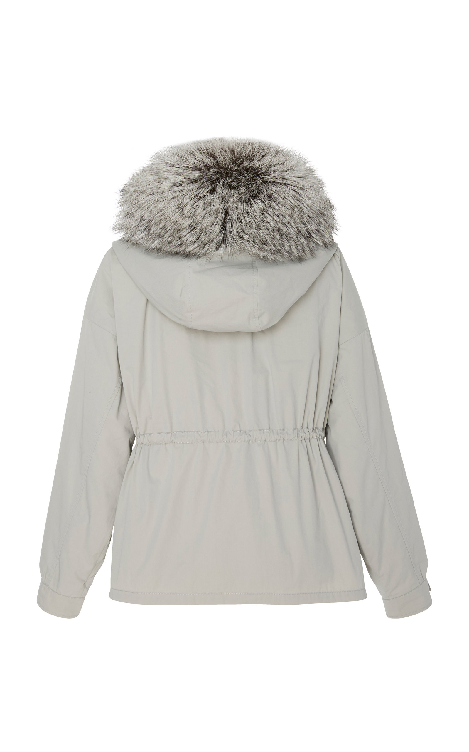 7b2f3c1edaef Fox Fur-Trimmed Cotton-Bachette Parka by Yves Salomon Paris