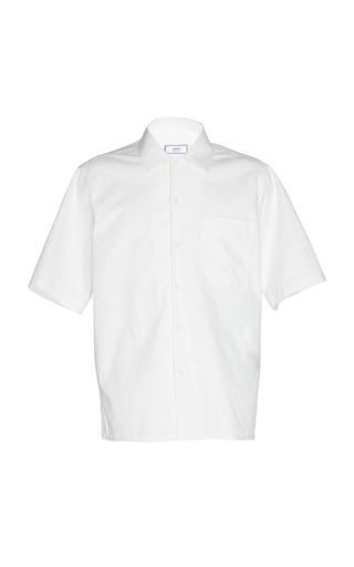 AMI PARIS | AMI Short Sleeve Cotton-Blend Poplin Shirt | Goxip