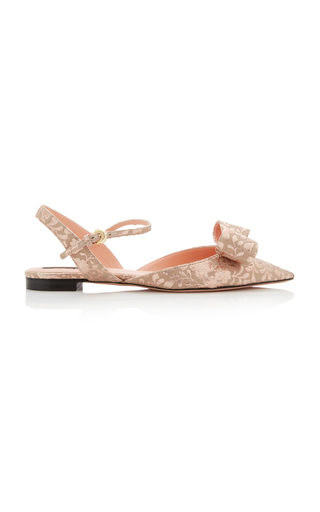 Rochas POINTED BROCADE FLATS