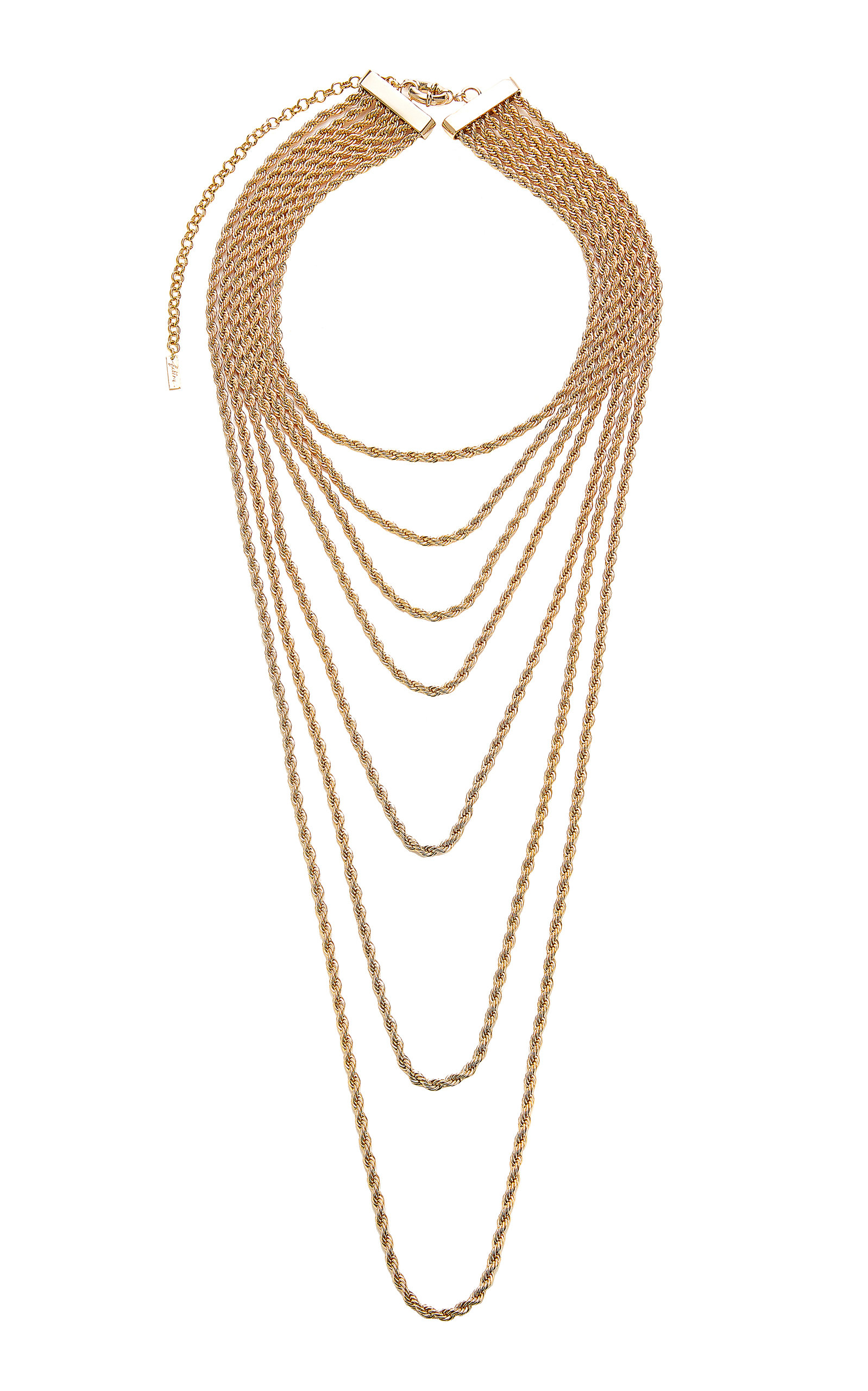 FALLON GOLD-PLATED BRASS LAYERED NECKLACE