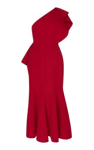 ELIE SAAB | Elie Saab One-Shoulder Ruffle Dress | Goxip
