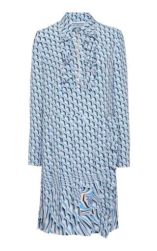 PRADA | Prada Ruffled Poplin Shirt Dress | Goxip