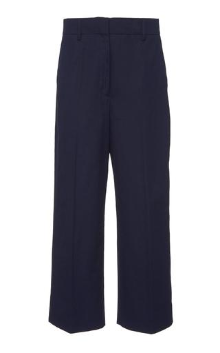PRADA | Prada Cropped Cotton-Crepe Straight-Leg Pants | Goxip