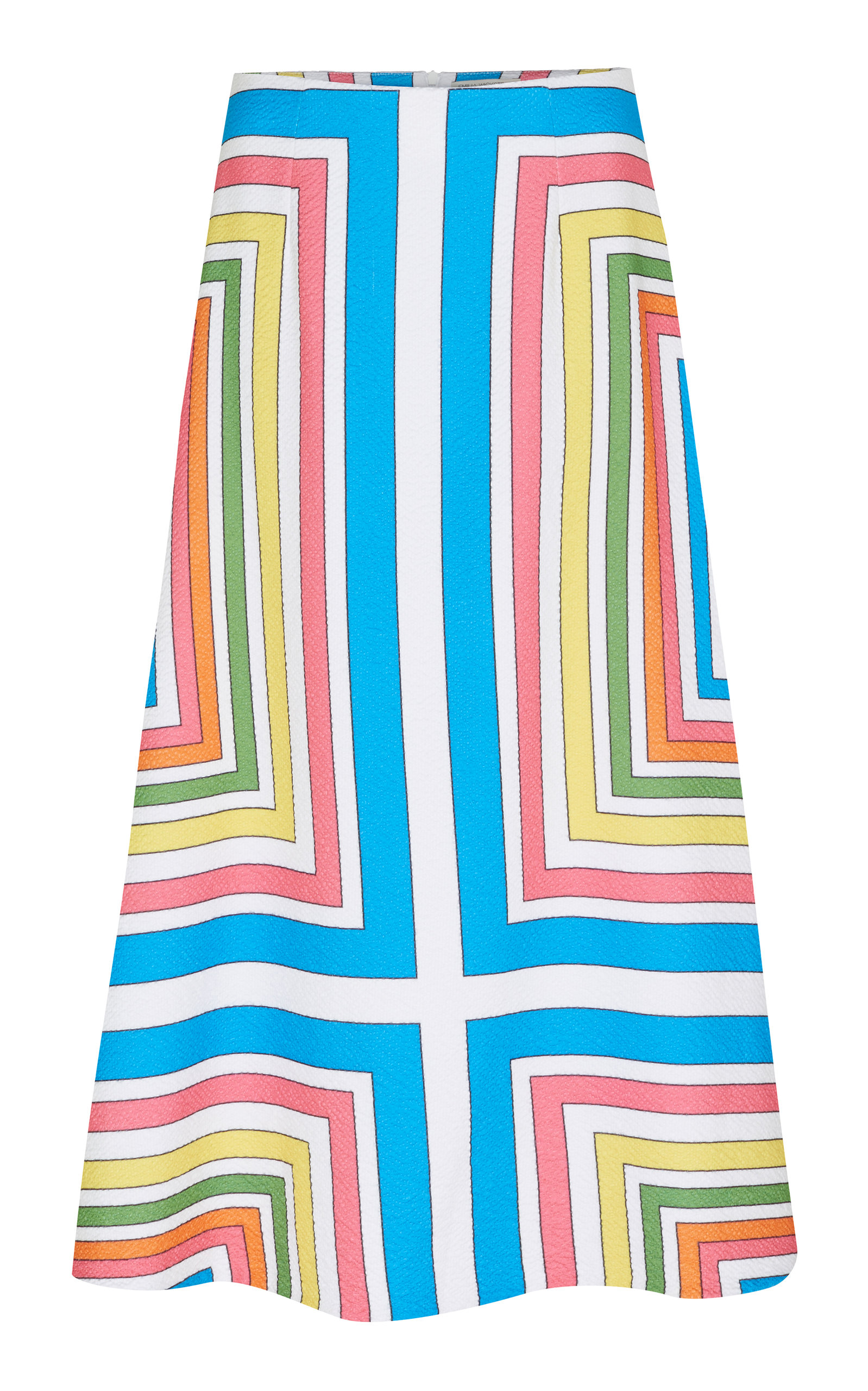 EMILIA WICKSTEAD MAGALI PRINTED VOILE MIDI SKIRT