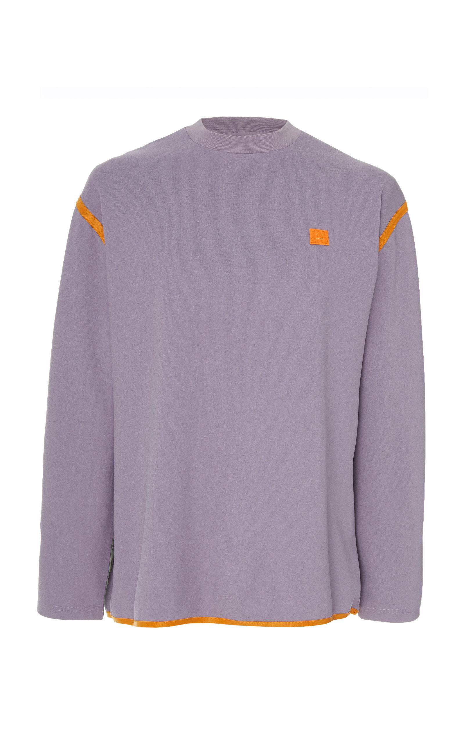 Acne Studios Sweatshirts Ferke Shell-Paneled Jersey Sweatshirt