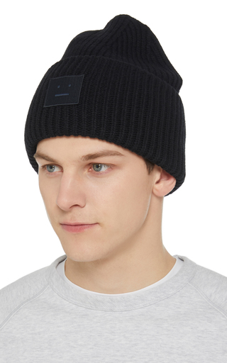 624d40282ac Acne StudiosAppliquéd Rib-Knit Wool Beanie