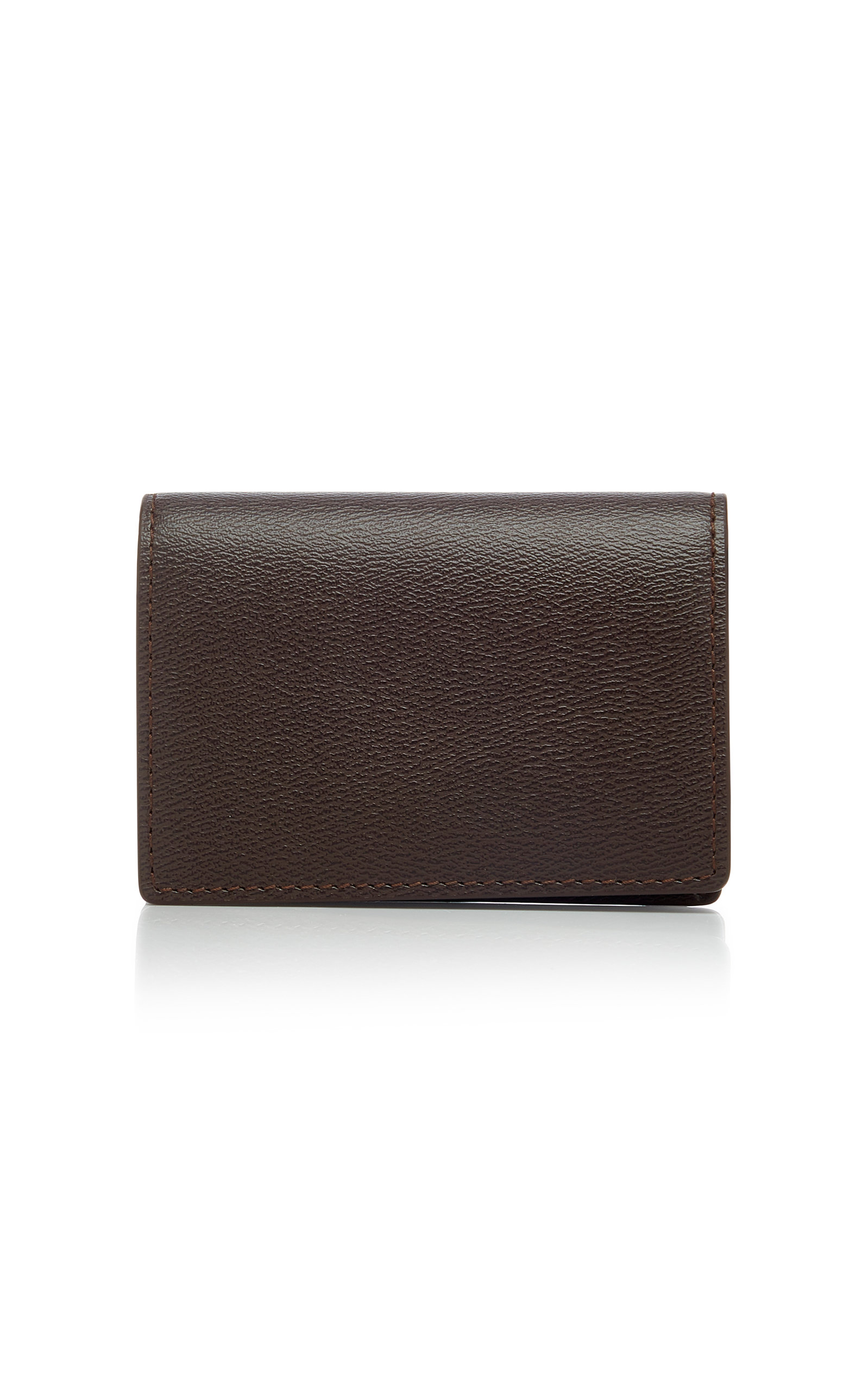5cb60cafea5 Grosvenor Textured-Leather Cardholder by Smythson   Moda Operandi