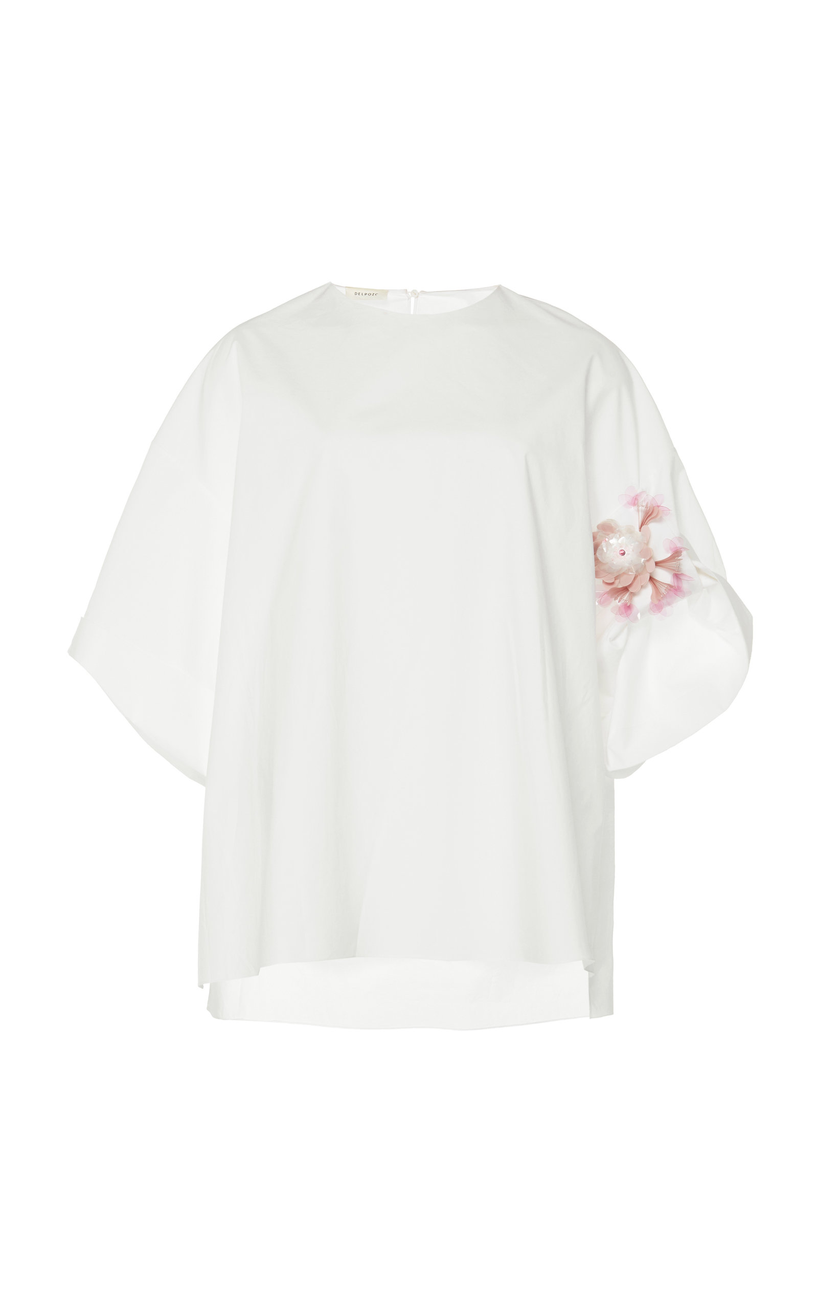 Poplin Embroidered Shirt Delpozo Cheap Sale Cheapest Outlet Shop For MehlJXAA