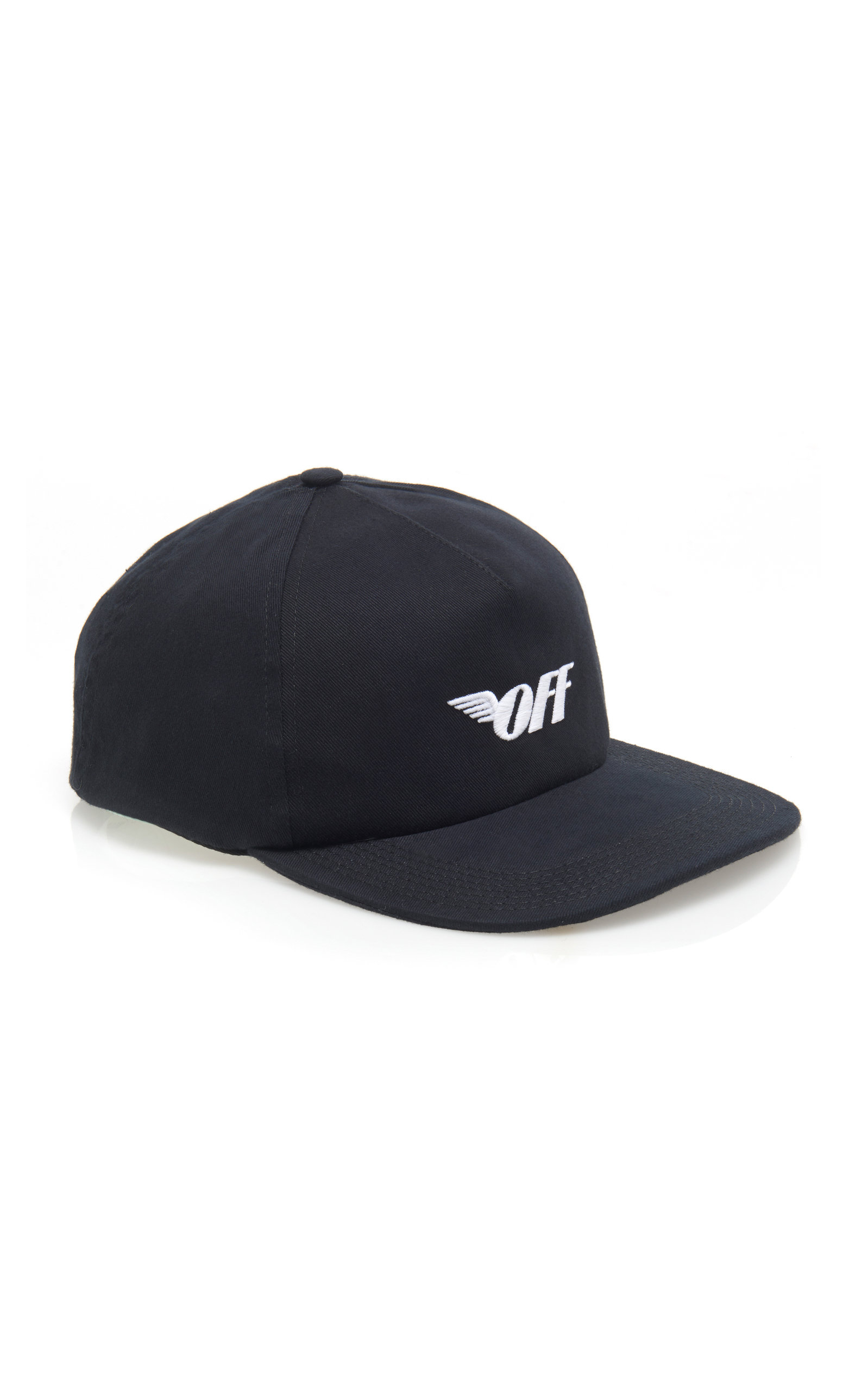 67640f6e8c6 Off-White Wings Logo Cotton Baseball Cap In Black