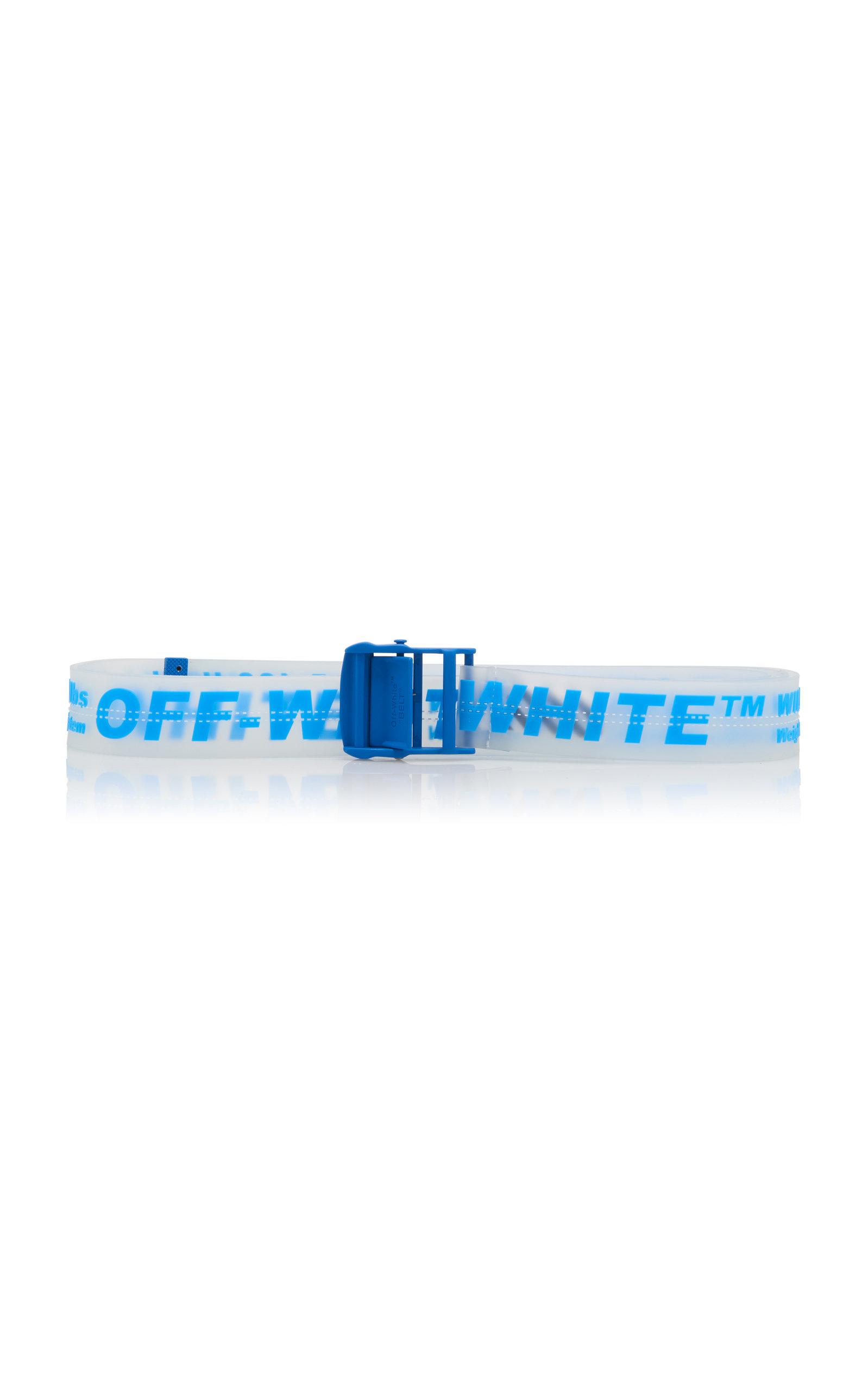 35Mm Logo Printed Pvc Transparent Belt in Blue