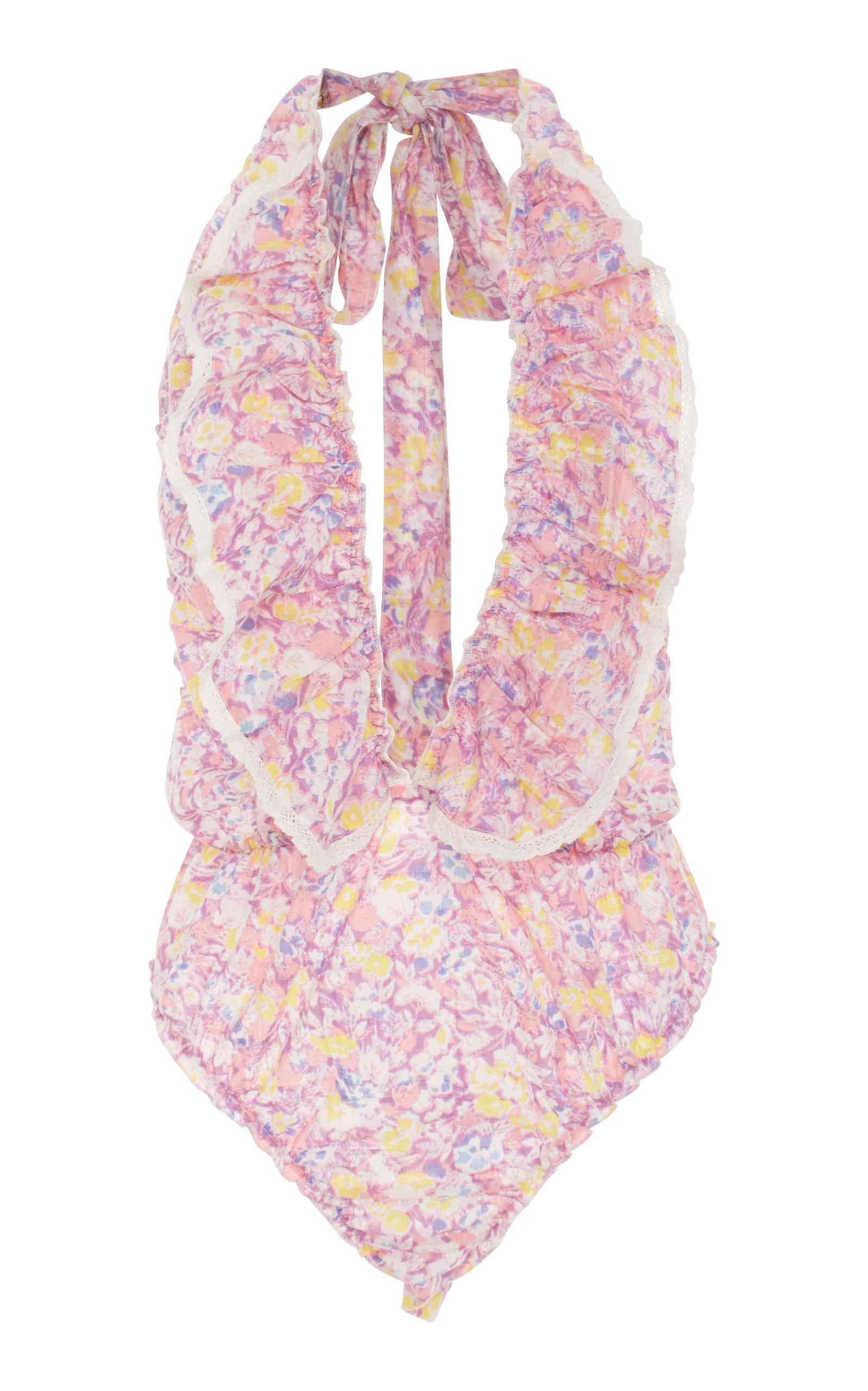 Peony Ruffle Body Suit LoveShackFancy Free Shipping Low Price hfxPB89Q