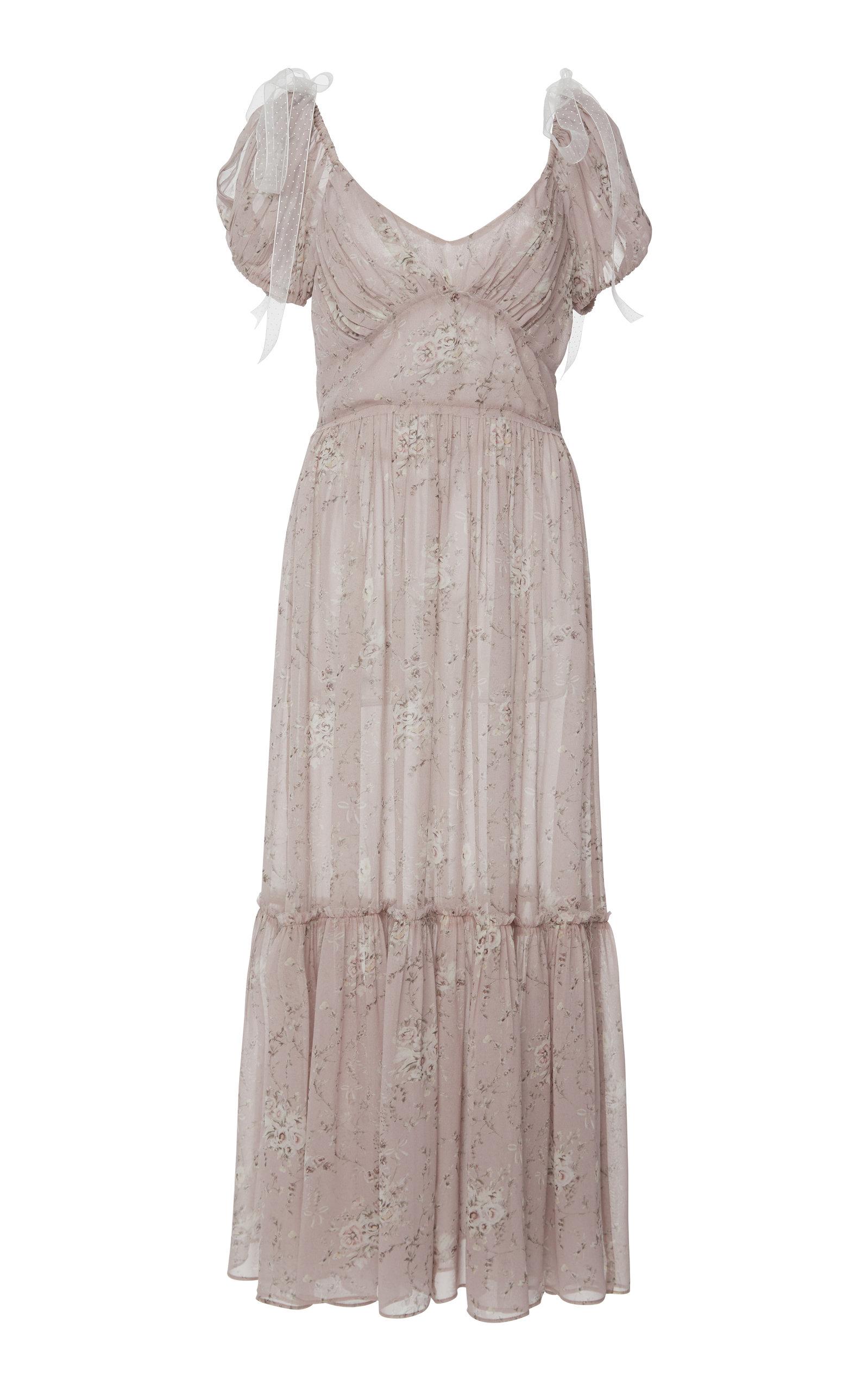 230dbb860d4b Angie Floral-Print Silk-Chiffon Maxi Dress by LoveShackFancy | Moda ...