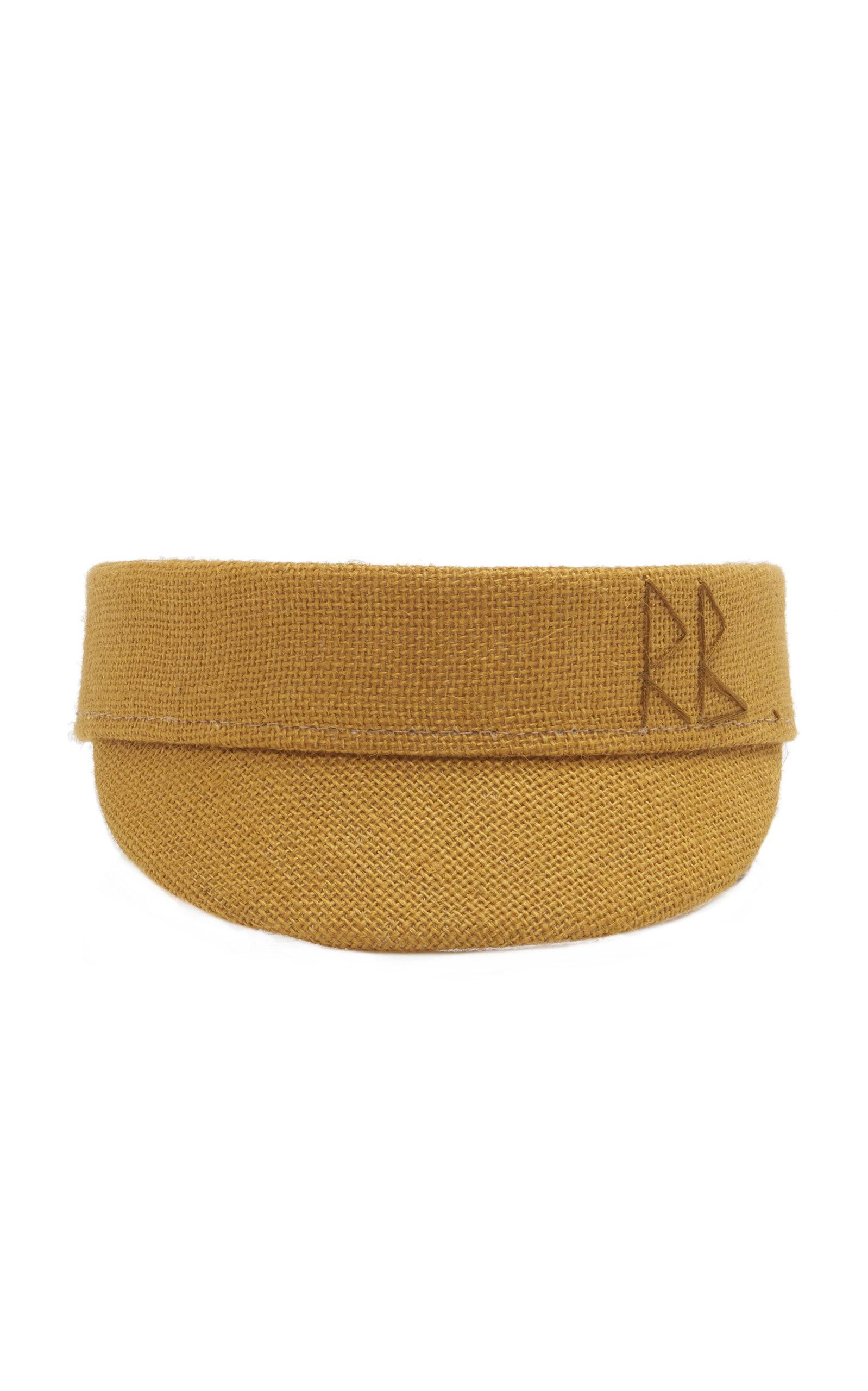 RUSLAN BAGINSKIY HATS Jute Visor in Yellow