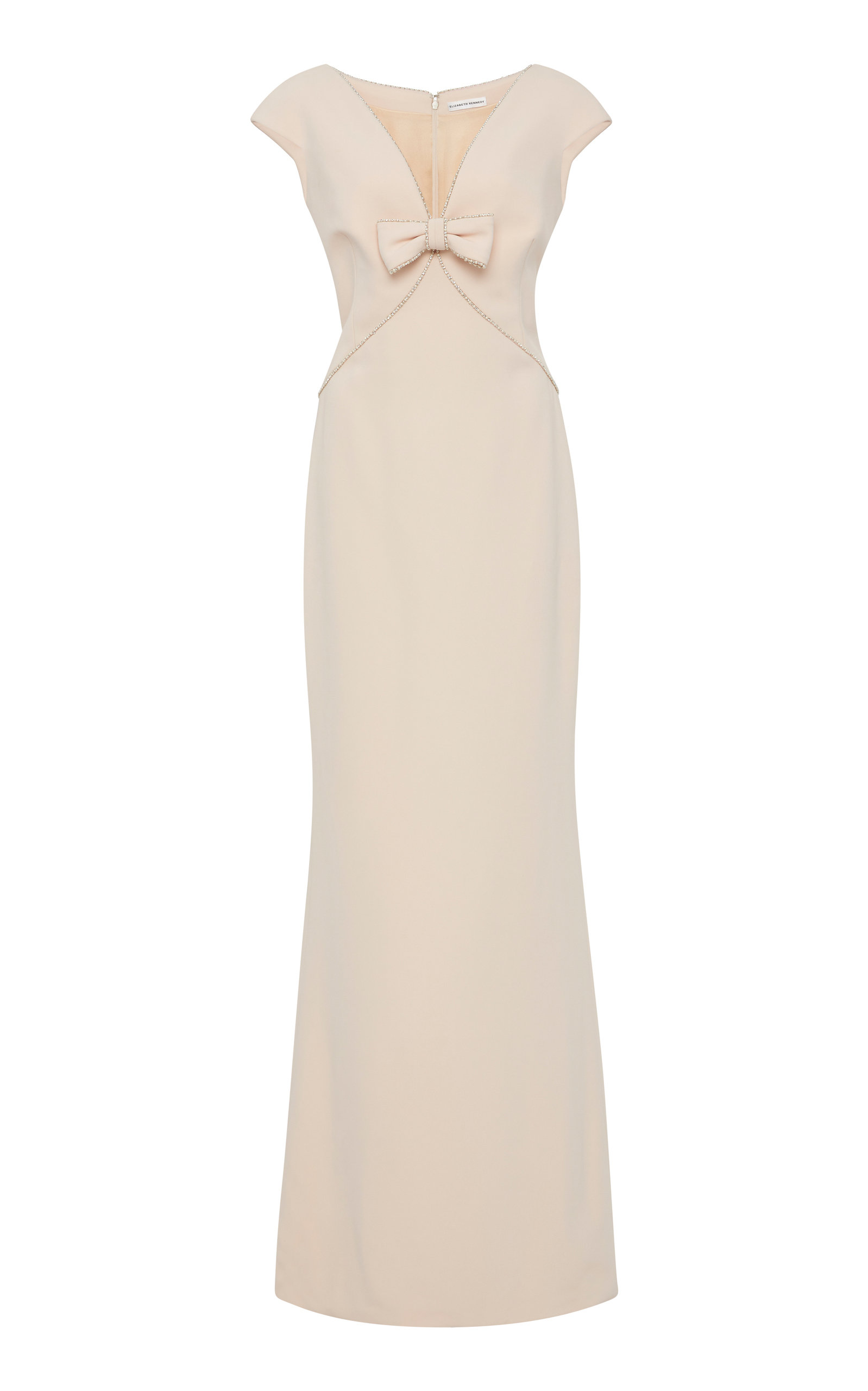 ELIZABETH KENNEDY Pearl-Trim Gown in Pink