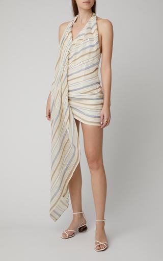 8672ab4fb08 Spezia Striped Cotton And Linen Mini Dress by Jacquemus